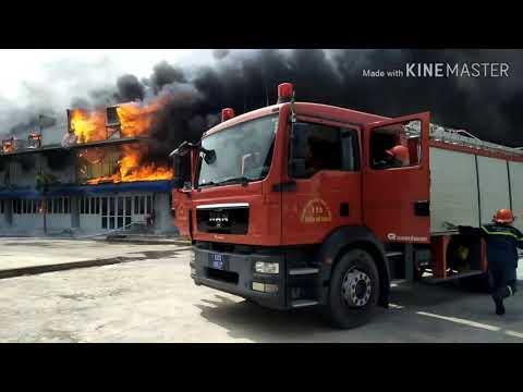 Toàn cảnh vụ cháy tại Công ty may Nhà Bè-CN Sóc Trăng