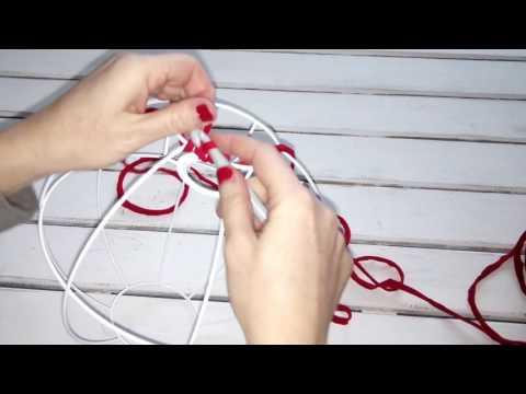 Cómo empezar a tejer la lámpara esférica en trapillo