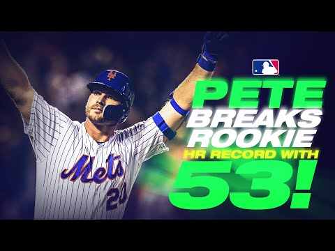 Pete Alonso sets rookie home run record with 53rd blast!