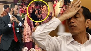 Nekat Selfie di Pelaminan, Pria Ini Dapat Jawaban Mengejutkan dari Jokowi hingga Ditegur Paspampres