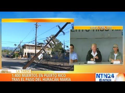 Puerto Rico reconoció más de 1.400 muertos tras paso de huracanes Irma y María