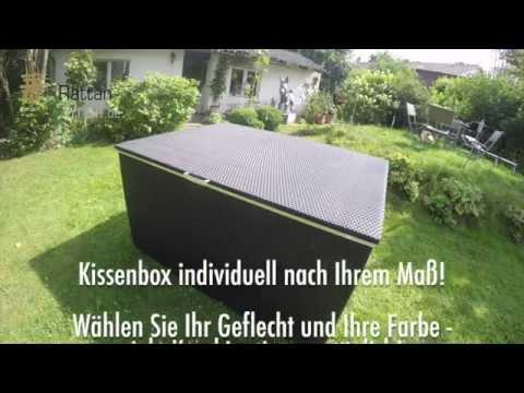 Rattan Profi Kissenbox auf Maß