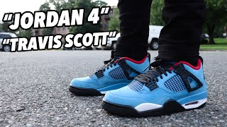 size 40 64b22 96bfe jordan 4 travis scott on feet - Free video search site ...