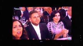 Amy Schumer And Goldie Hawn Present The Golden Globe To Ryan Gosling
