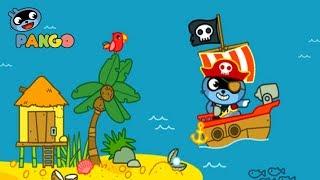 Приключения Енота Панго игровой Мультик погоня за сокровищами Морские Пираты