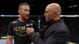 Justin Gaethje and Tony Ferguson react to their UFC 249 clash that saw Gaethje win the interim lightweight championship. Gaethje says he's ready for champion Khabib Nurmagomedov.  Subscribe to get all the latest UFC content: http://bit.ly/2uJRzRR  Experience UFC live with UFC FIGHT PASS, the digital subscription service of the UFC. Visit https://ufcfightpass.com/  To order UFC Pay-Per-Views on ESPN+, visit https://bit.ly/2vNIBE8 (U.S. only)  To order UFC Pay-Per-Views, visit http://welcome.ufcfightpass.com/#PPV (Non U.S.)  Connect with UFC online and on Social: Website: http://www.ufc.com Twitter: http://www.twitter.com/ufc Facebook: http://www.facebook.com/ufc Instagram: http://www.instagram.com/ufc Snapchat: UFC Periscope: http://Periscope.tv/ufc  Connect with UFC FIGHT PASS on Social: Twitter: http://www.twitter.com/ufcfightpass Facebook: http://www.facebook.com/ufcfightpass Instagram: http://www.instagram.com/ufcfightpass