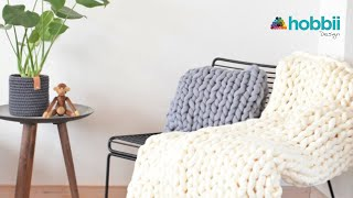 Hand Knit - Chunky Blanket in 45 Minutes