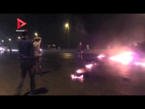 عناصر الإخوان يقطعون الطريق الدائرى بشارع القومية