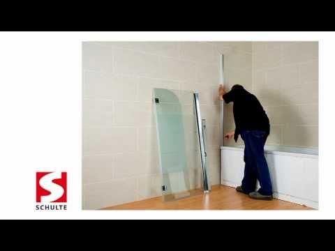Badewannenfaltwand Montage - einfach ohne Bohren! | Schulte