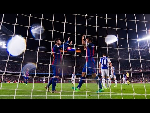 Barcelona vs Real Sociedad 3-2 April 15th 2017 All Goals and Highlights!