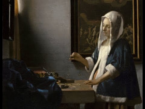 Johannes Vermeer, Woman Holding a Balance on