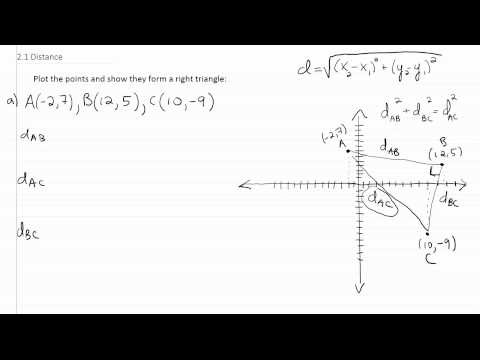 Distance, Right Triangle Vertices p2