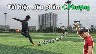 Thử Thách Bóng Đá tái hiện siêu phẩm của Công Phượng U23 Việt Nam đẹp như Ronaldo mùa World cup 2018