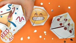 Emoji Kaleidoscope - PARTY Paper Craft - New Years Eve DIY - Birthday Emoji DIY