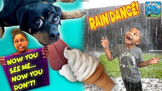 WHAT THE FLUFF CHALLENGE RAIN DANCE | DINGLEHOPPERZ VLOG