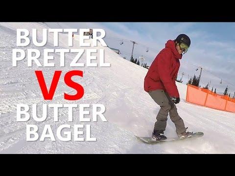 Butter Pretzel VS Butter Bagel - Snowboard Trick Tutorial