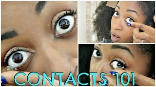 HOW TO PUT ON AND TAKE OFF  CONTACTS FOR BEGINNERS STEP BY STEP HD + SECRET TIPS 🗝