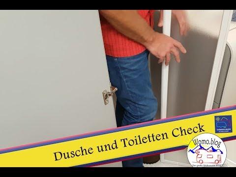 Wohnmobil Test Dusche und Toilette