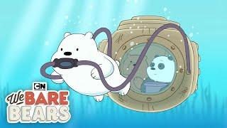 We Bare Bears | Underwater Baby Bears | Cartoon Network