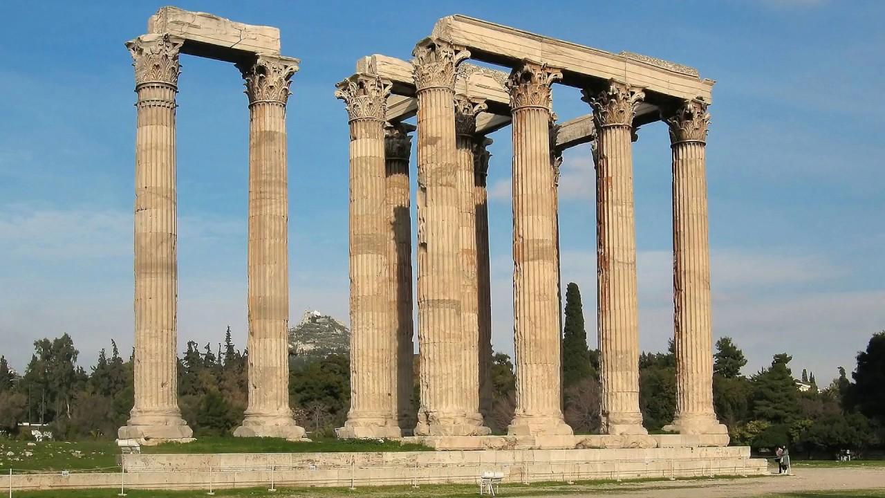 temple of olympian zeus, temple, athens, greece