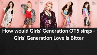 How would SNSD OT5 sing ► Love is Bitter