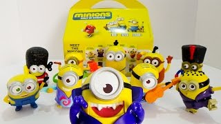 Minions 2015 McDonald's Happy Meal Toys Complete Set of 10 Toy Review by iLoveThisToy