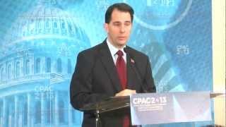 CPAC: Scott Walker on Guns & Unions
