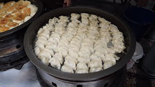Taiwanese Street Food - Steam-fried Bun, Steam-fried Dumpling, Pancake Omelette