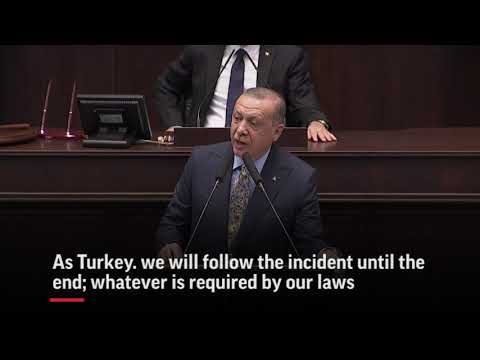 Turkey's president wants Saudi Arabia to allow 18 suspects that it detained for the killing of murdered journalist Jamal Khashoggi to be tried in Turkish courts, setting up further complications with the Saudi government. (Oct. 23)