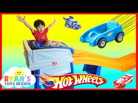 STEP2 ROLLER COASTER HOT WHEELS EXTREME THRILL COASTER Ride On Car Toys for Kid Ryan ToysReview