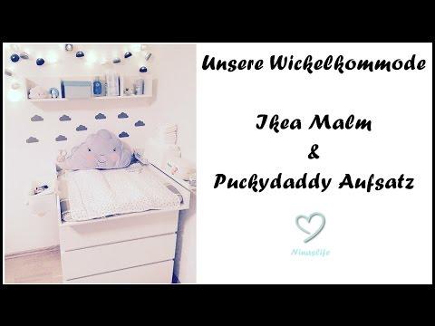 Unsere Wickelkommode/Wickeltisch | IKEA Malm & Puckydaddy Aufsatz | NinasLife