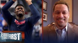 Pelicans won't win first round in playoffs, talks Zion & LeBron — Broussard | FIRST THINGS FIRST