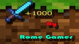 Rome Gamer Minecraft 18  สอนทำดาบ +1000 No Mod No Plugins