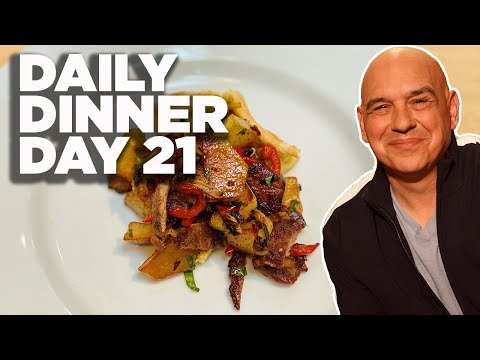 COOK ALONG WITH MICHAEL SYMON | QUICK STEAK WITH PEPPER RELISH | DAILY DINNER DAY 21
