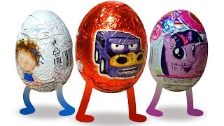 Волшебные шоколадные яйца. Машинки. Киндер сюрприз. Surprise Eggs, Kinder Surprise