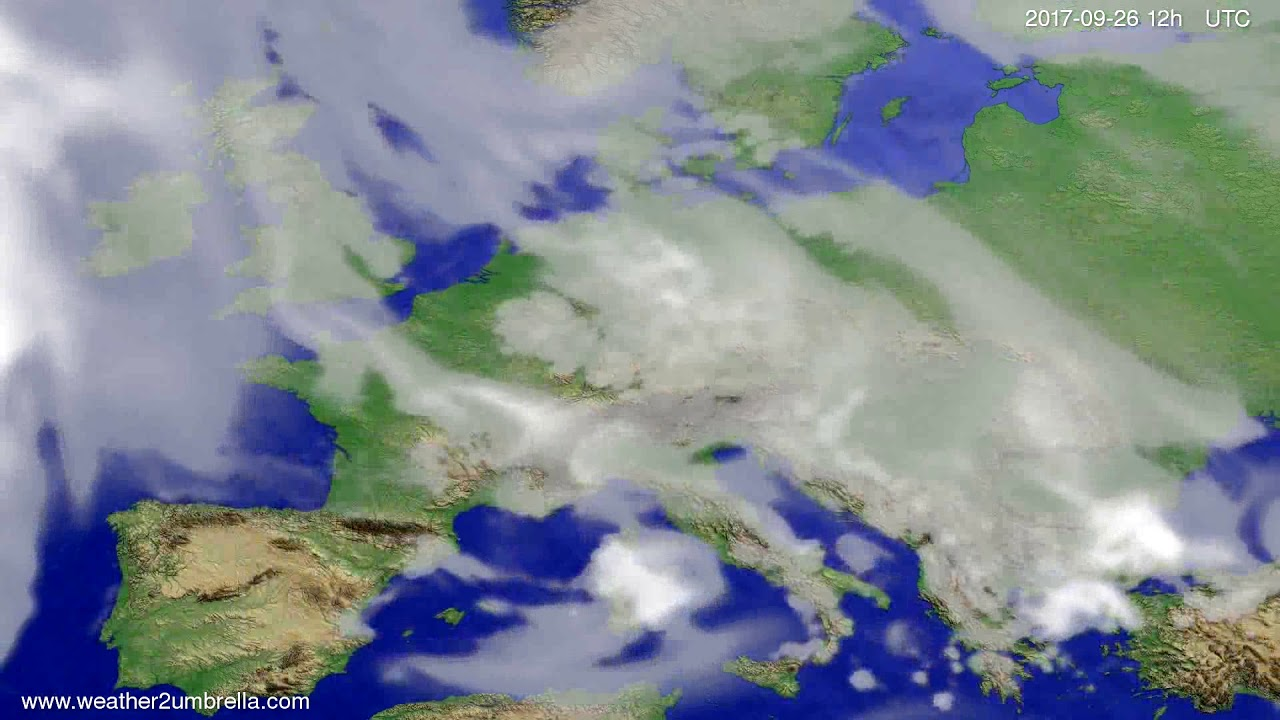 Cloud forecast Europe 2017-09-24