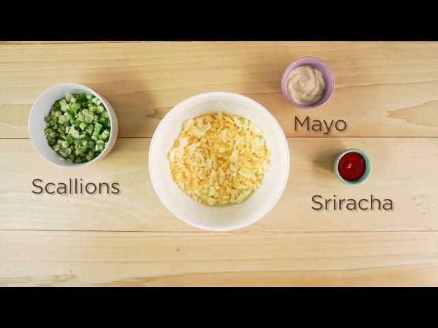 Sriracha Egg Salad Wraps