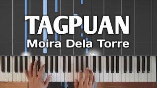 Tagpuan   Moira Dela Torre | Piano Tutorial Synthesia