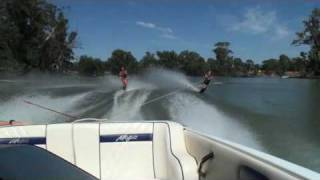 preview picture of video 'Charlie Eddie Thomas Slalom Skiing, Hay NSW (SD)'