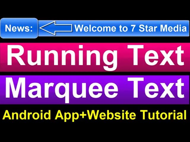 Marquee HTML Codings - 7 Star Media