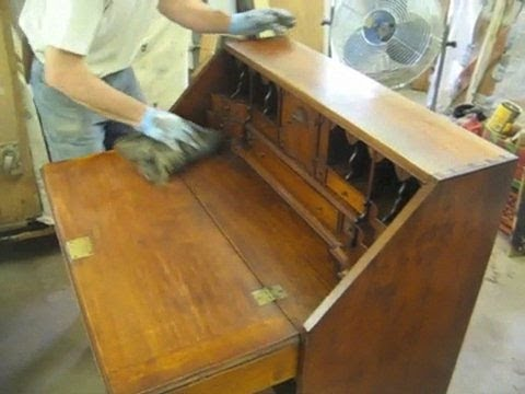 Restoring A Reproduction Desk - Thomas Johnson Antique Furniture Restoration