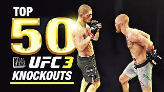 EA SPORTS UFC 3 - TOP 50 UFC 3 KNOCKOUTS - Community KO Video ep. 1