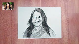 Sketch | Tina Dabi | IAS Officer | Tutorial