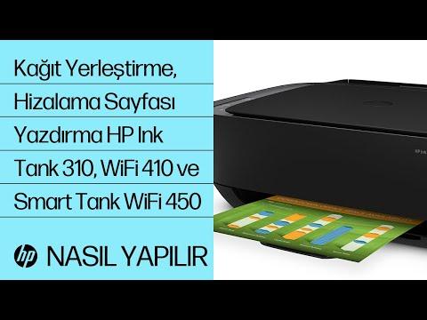 HP Ink Tank 310, Ink Tank Wireless 410 ve Smart Tank Wireless 450 serisinde Kağıt Yerleştirme ve Hizalama Sayfasını Yazdırma