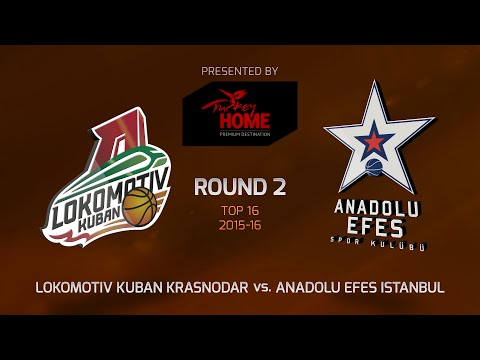 Highlights: Top 16, Round 2, Lokomotiv Kuban Krasnodar 78-77 Anadolu Efes Istanbul