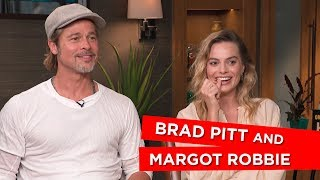 'It's uncomfortable at the urinal' Margot Robbie and Brad Pitt talk awkward fan encounters
