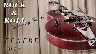 Rock n Roll Guitar Backing Track Jam in E