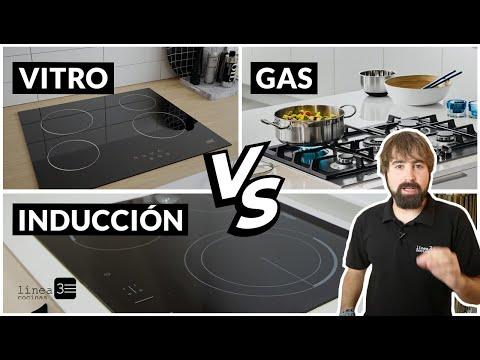 Diferencia entre INDUCCIÓN, VITROCERÁMICA Y GAS