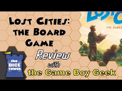 The Game Boy Geek (Dice Tower) Reviews Lost Cities the Board Game