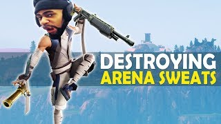 DESTROYING ARENA SWEATS | HIGH KILL FUNNY GAME - (Fortnite Battle Royale)